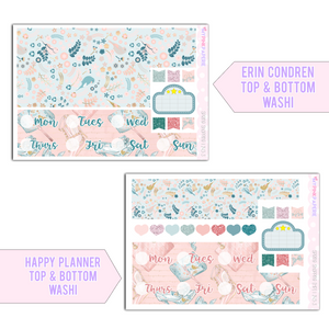 243 | Spring Shopping Deluxe 7 Page Weekly Kit sized for Erin Condren - My Pink Paperie