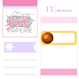 246 | Basketball Reminder Stickers - My Pink Paperie