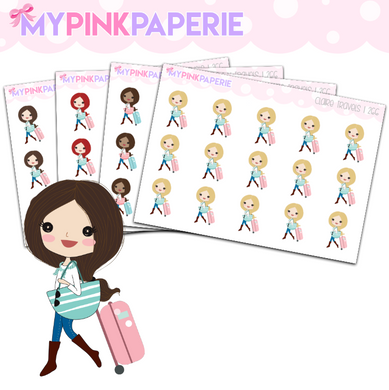 266 | Girls Travels | Cute Girl Stickers