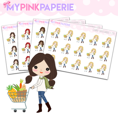 270 | Girls Groceries | Cute Girl Stickers
