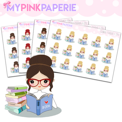 274 | Girls Read | Cute Girl Stickers