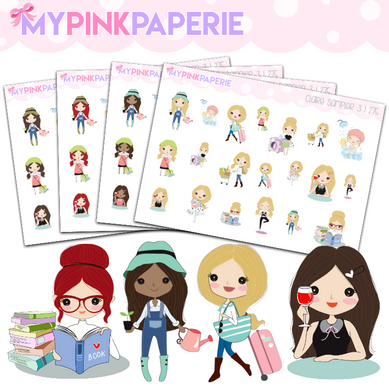 275 | Girls Activity Sampler 3 | Cute Girl Stickers