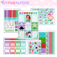 122 | Mermaid Princess 6 Page Deluxe Weekly Kit - My Pink Paperie