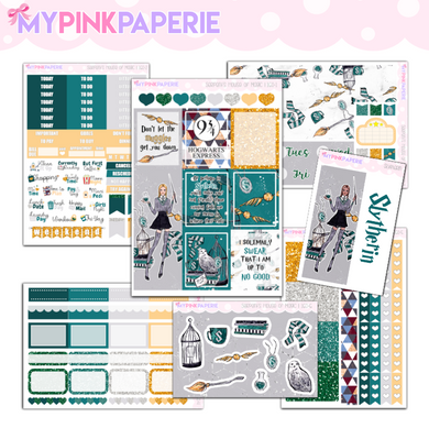 160 | Slytherin 7 Page Deluxe Weekly Kit