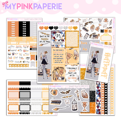 159 | Hufflepuff Deluxe 7 Page Weekly Kit sized for Erin Condren & Happy Planner