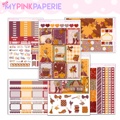 278 | Autumn Spice 6 Page Deluxe Weekly Kit