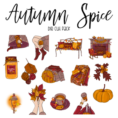 Autumn Spice Die Cut Pack - My Pink Paperie