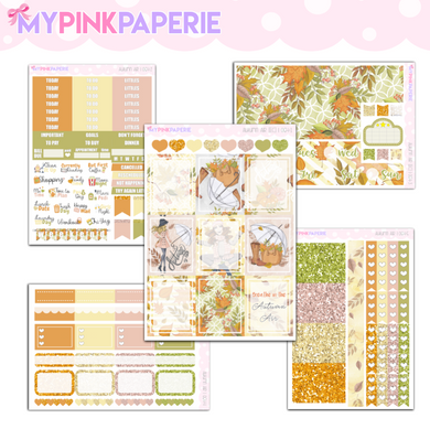 064 | Autumn Air 5 Page Deluxe Weekly Kit - My Pink Paperie