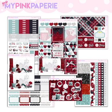 152 | Cozy Nights Deluxe 6 Page Weekly Kit sized for Erin Condren & Happy Planner
