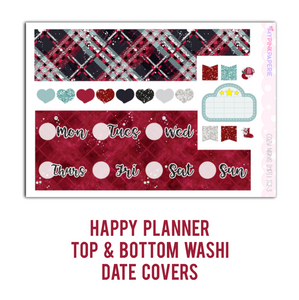 152 | Cozy Nights Deluxe 6 Page Weekly Kit sized for Erin Condren & Happy Planner - My Pink Paperie