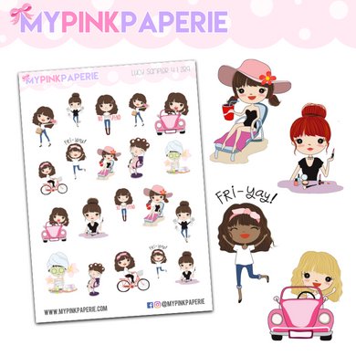 289 | Girls Activity Sampler 4 | Cute Girl Stickers
