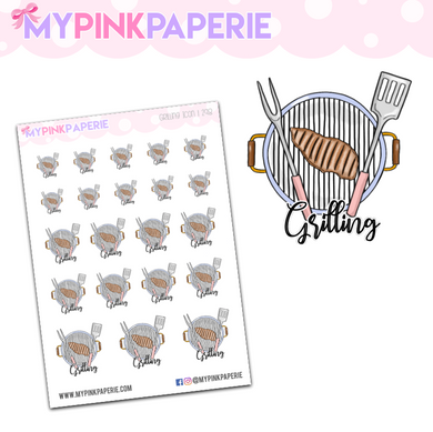 298 | Grilling Icons | Food Icons Collection - My Pink Paperie