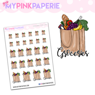 299 | Groceries Icons | Food Icons Collection - My Pink Paperie