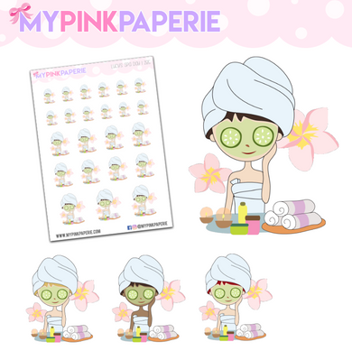 285 | Girl's Spa Day | Cute Girl Stickers