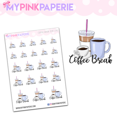 295 | Coffee Break Icons | Food Icons Collection - My Pink Paperie