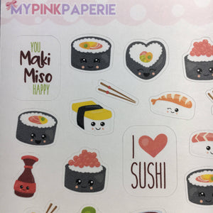 092 | I Love Sushi Deco Stickers - My Pink Paperie