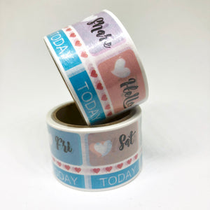Large Weekly Header Washi Tape Roll - My Pink Paperie