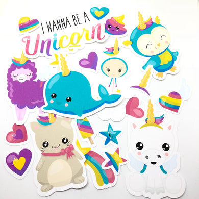 Wannabe Unicorns Die Cut Pack - My Pink Paperie