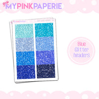 Glitter Headers Stickers - My Pink Paperie