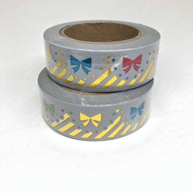 Multi Colored Bow Foiled Washi Tape Roll