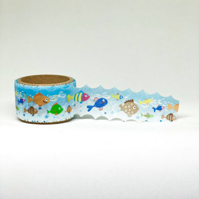 Under the Sea Fish with Scalloped Edge Washi Tape Roll