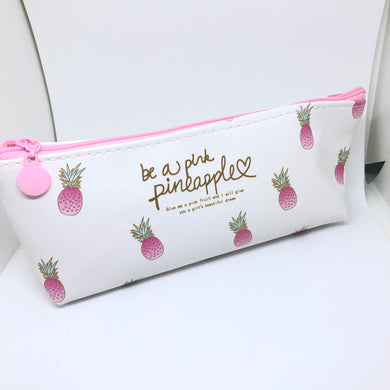 Pink Pineapple Pencil Pouch