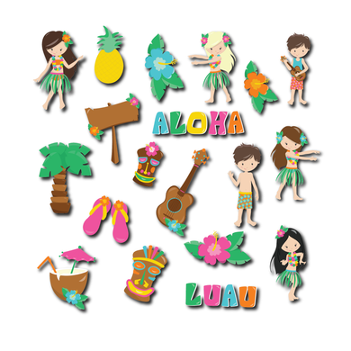 Luau Die Cut Pack
