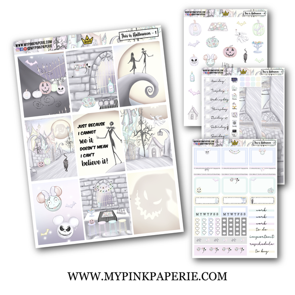 This is Halloween 4 Page Weekly Kit - My Pink Paperie