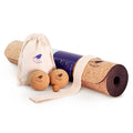 Cork Yoga Mat and Massage Balls Bundle