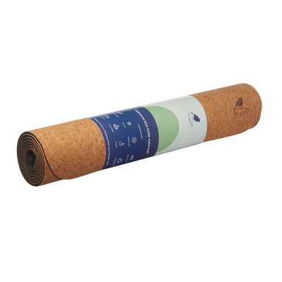 "Cork Lightweight Yoga Mat ""The Robin"" 