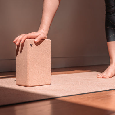 "Cork Yoga Block ""The Nuthatch"" 