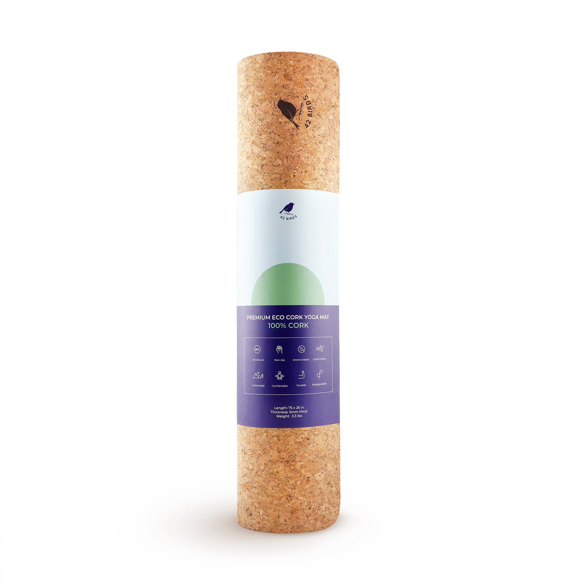 "100% Cork Yoga Mat ""The Woodpecker"" 