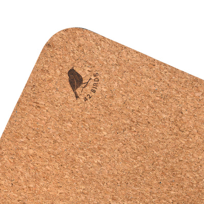 "Cork Yoga Mat ""The Robin"" 