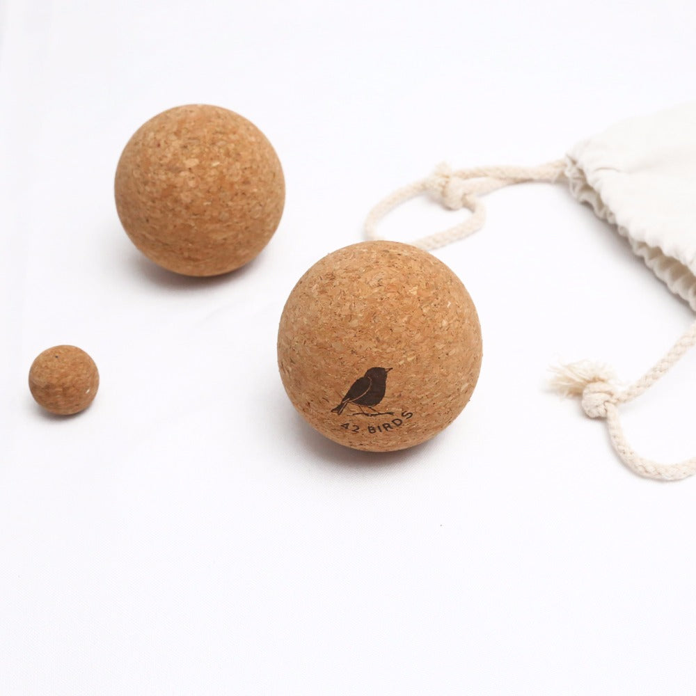 "Cork Massage Therapy Balls ""The Little Owls"""