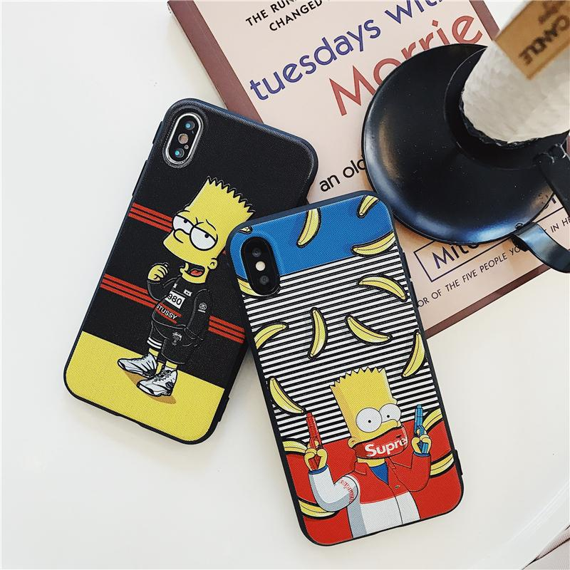 buy online 85f8b 352a3 Bart Simpson SUPREME iPhone Cases