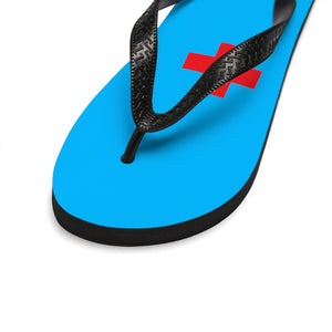 "Lakewood HS - HOSM "" Red Cross"" Unisex Flip-Flops"