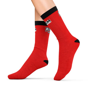 Lakewood HS HOSM Red Sublimation Socks