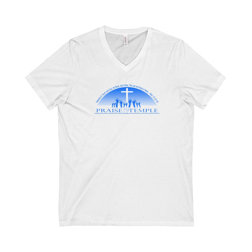 Praise Temple of Long Beach™ Unisex Short Sleeve V-Neck Tee