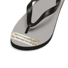 Load image into Gallery viewer, Praise Temple of Long Beach™ Unisex Flip-Flops Grey