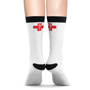"HOSM - ""Red Cross"" Sublimation Socks"