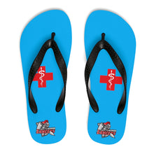 "Load image into Gallery viewer, Lakewood HS - HOSM "" Red Cross"" Unisex Flip-Flops"