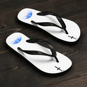 Praise Temple of Long Beach™ White Cross Unisex Flip-Flops