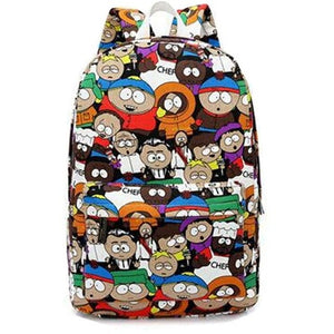 2018 South Park Cartoon Women Backpacks Sport Bags For Teenage Girls College High School  Daily Backpack For Student Bags