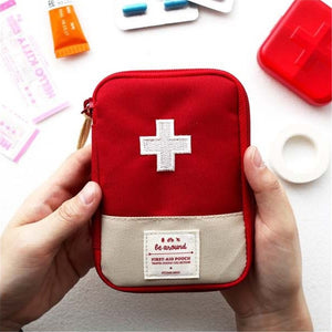 HOSM Mini First Aid Kit Bag Outdoor Travel Car Home Emergency Survival  Kit Bag Portable Small Medical Treatment Pack