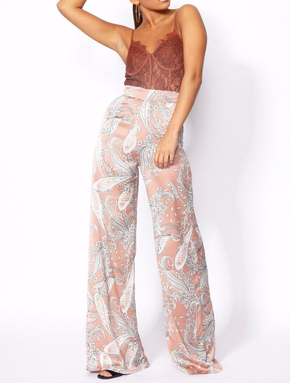 Paisley Flare Trousers