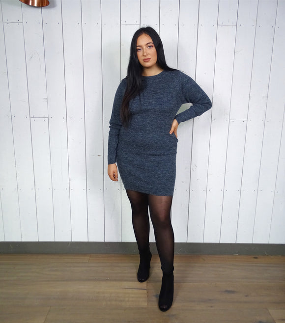 Knitted Dress Navy