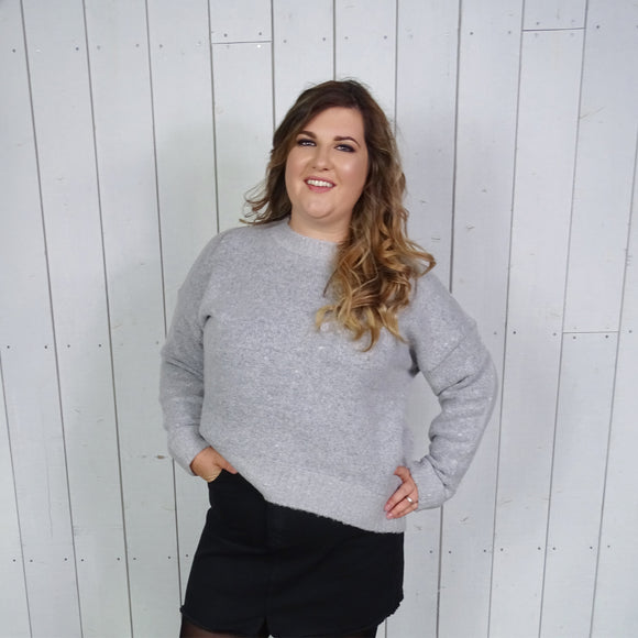 Grey Loose Fit Jumper