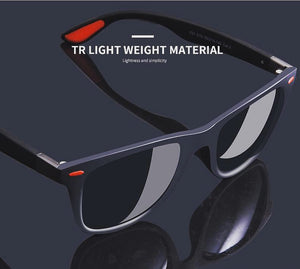Lightweight TR90 Sunglasses - Blue / Red Polarized