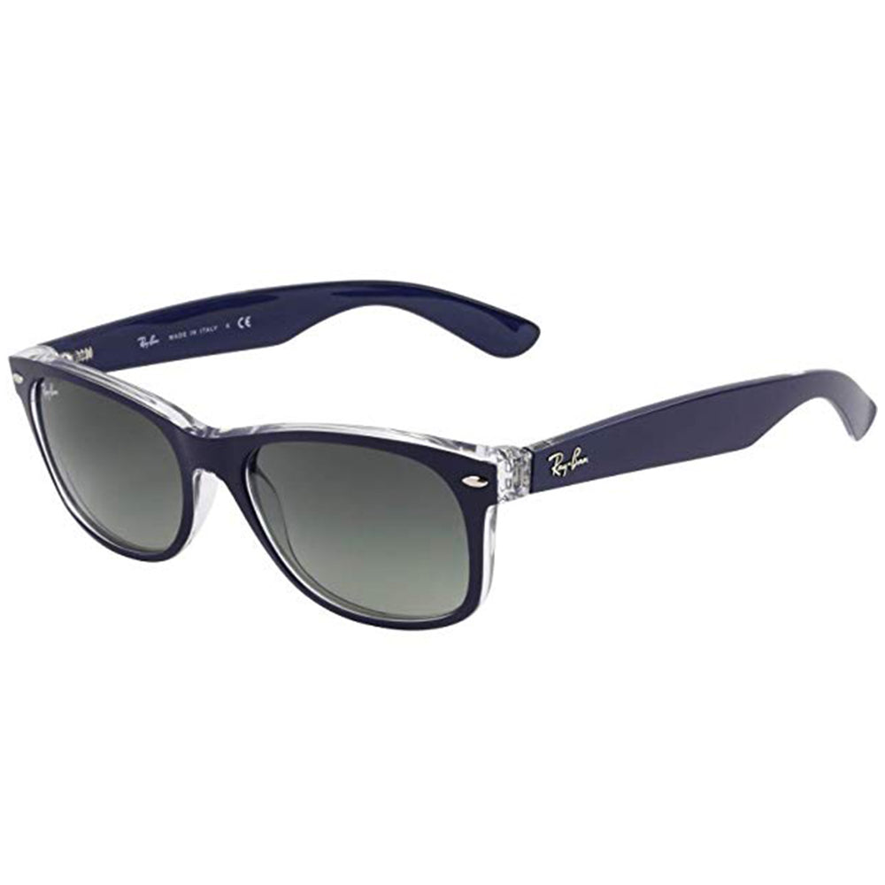 Ray-Ban RB2132-55 New Wayfarer Sunglasses, 55mm Blue Clear / Grey Gradient