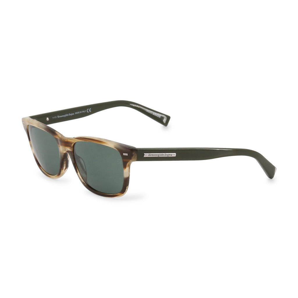 Ermenegildo Zegna EZ0001 56mm Sunglasses, Light Brown Tortoise